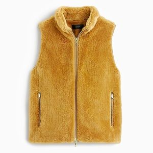 nwt jcrew plush fleece excursion vest e1535